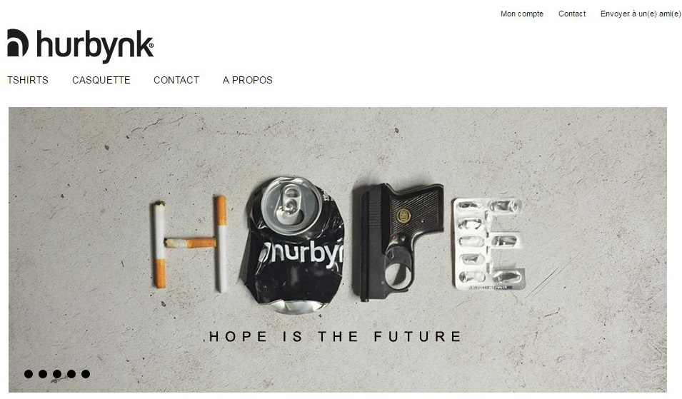 Marque belge de t-shirt Hurbynk