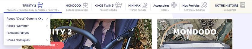 Libéllule : zoom sur le menu de la boutique en ligne