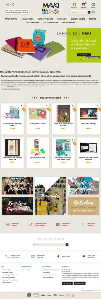 Papier Maki : zoom boutique en ligne