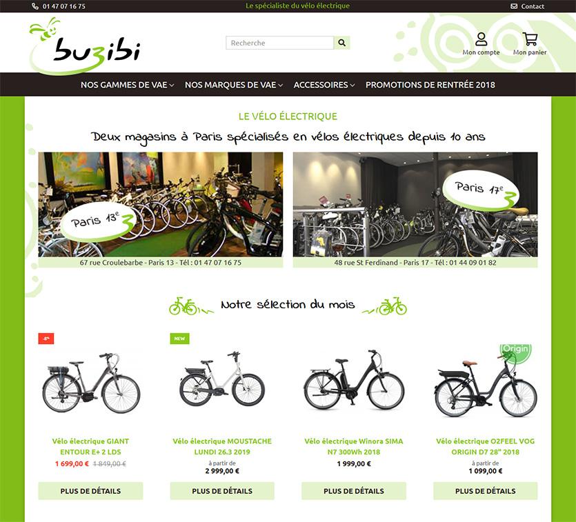buzibi : Boutique en ligne spécialisée dans le vélo électrique.