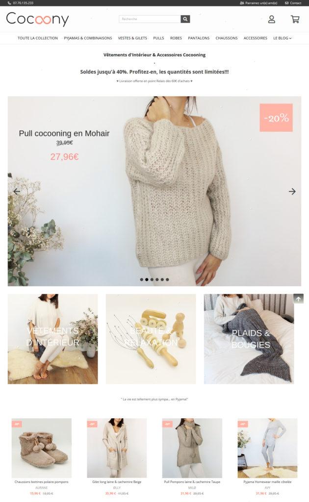 Cocoony : vêtements d'intérieur et accesoires cocooning